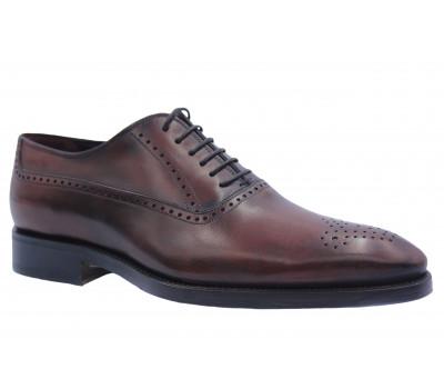 Туфли ROMIT HAND MADE кожаные бордовые 9506