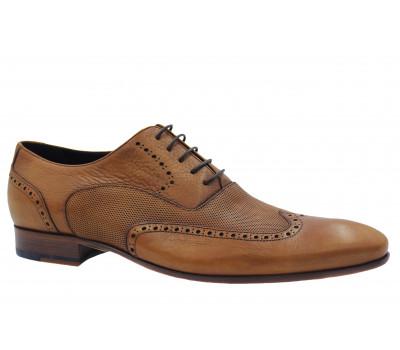 Туфли ROMIT кожаные рыжие 10423