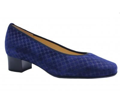 Модельные туфли Hassia синие из крека 9-303303