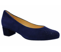 Модельные туфли Hassia замшевые  темно-синие