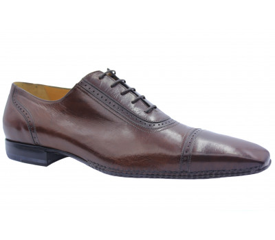 Туфли ROMIT кожаные коричневые 10068