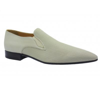 Туфли ROMIT кожаные бежевые 11099
