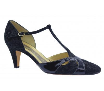 Туфли Peter Kaiser из крека черные 71121-989