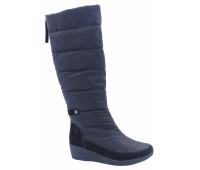 Демисезонные сапоги РМ Shoes из текстиля черные