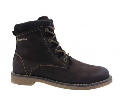 Зимние ботинки Dockers из нубука коричневые 1422004