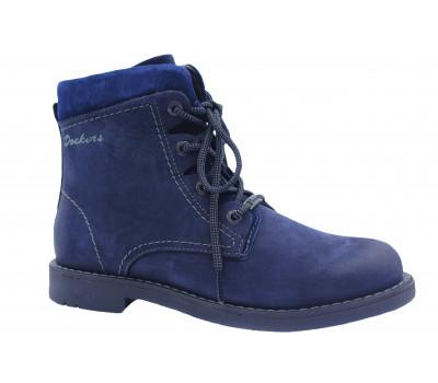 Зимние ботинки Dockers из нубука синие 1422004