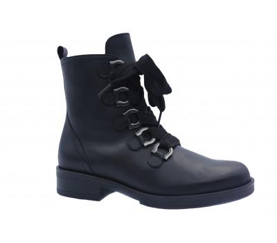 Демисезонные ботинки Gabor кожаные черные 51790