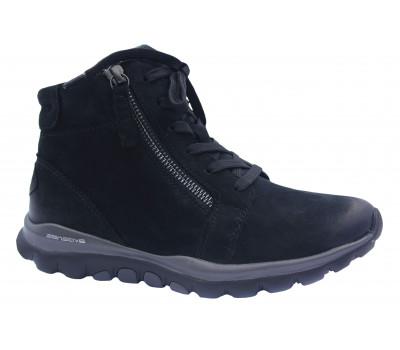 Демисезонные ботинки Gabor из нубука черные 56868