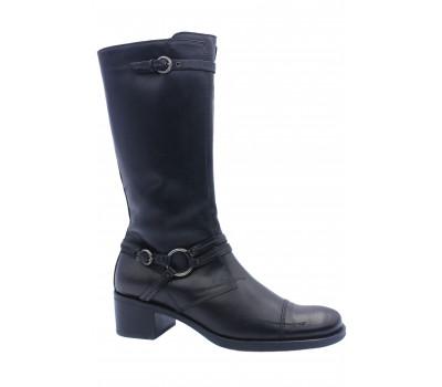 Зимние сапоги  TREMP кожаные черные 1104