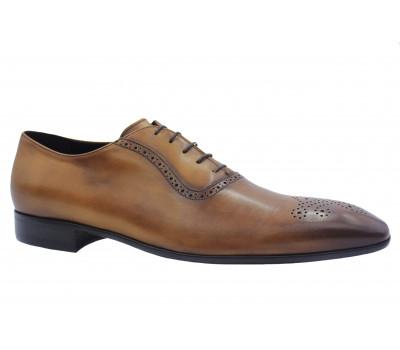 Туфли ROMIT кожаные рыжие 10861
