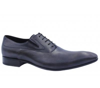 Туфли ROMIT кожаные серые 10366