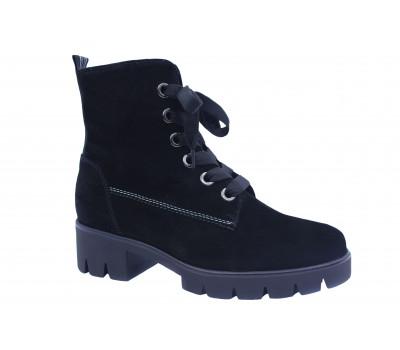 Демисезонные ботинки Gabor замшевые черные 51711
