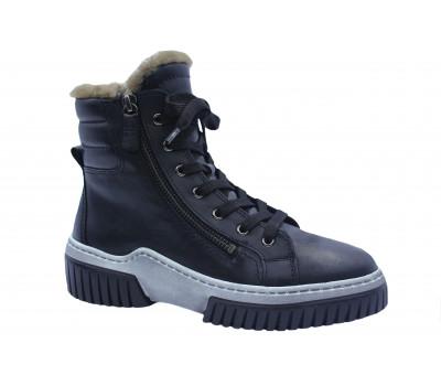 Зимние ботинки Gabor кожаные черные 53761