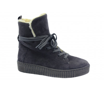 Ботинки Gabor замшевые серые 53735