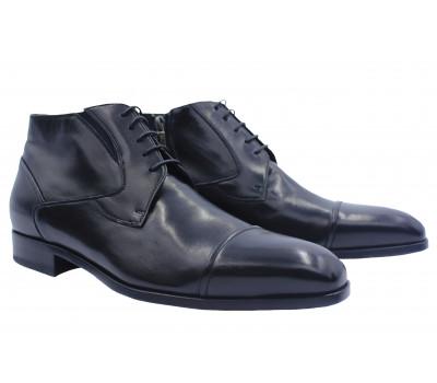 Зимние ботинки ROMIT кожаные черные10769