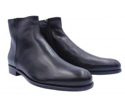 Зимние сапоги ROMIT кожаные черные 13995