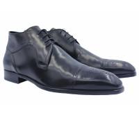 Зимние ботинки ALBA кожаные черные