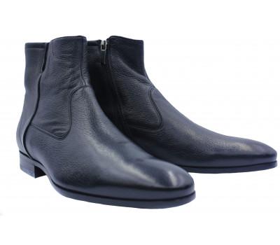 Зимние сапоги ROMIT кожаные черные 13956