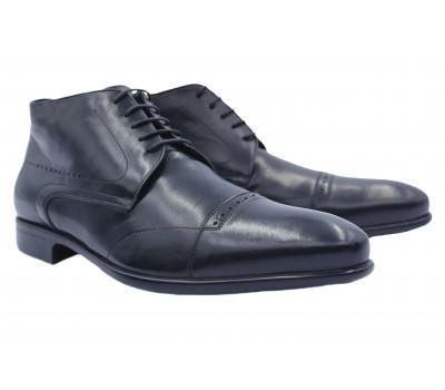Зимние ботинки ALBA кожаные черные 9668