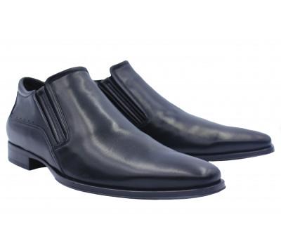 Зимние полусапоги ALBA кожаные черные  9004