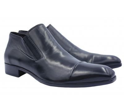Полусапоги ALBA кожаные черные 9674