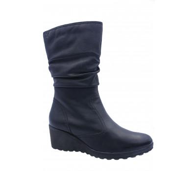 Сапоги зимние Caprice кожаные черные 26405-27