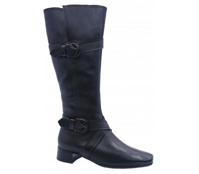 Зимние сапоги Gabor кожаные черные 75809