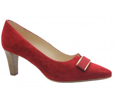 Модельные туфли Peter Kaiser замшевые красные 68525-871