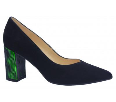 Модельные туфли Peter Kaiser черные замшевые 77589-996