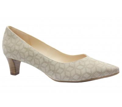 Модельные туфли Peter Kaiser из крека бежевые 48511-178