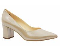 Туфли Peter Kaiser из лакированной перламутровой кожи бежевые