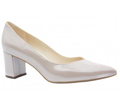 Модельные туфли Peter Kaiser из лакированной перламутровой кожи светло-бежевые 67511-501