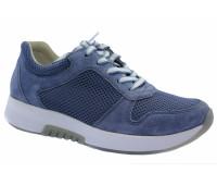 Кроссовки Gabor голубые замшевые