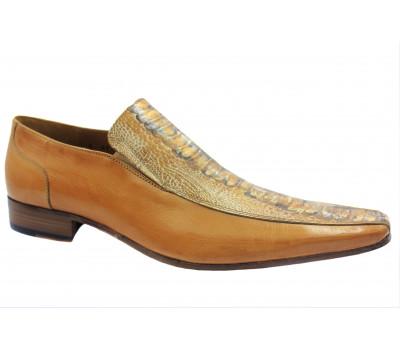 Летние туфли ALBA кожаные бежевые 40767