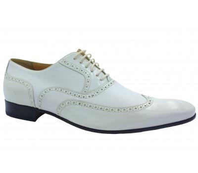 Туфли ROMIT кожаные белые 9438