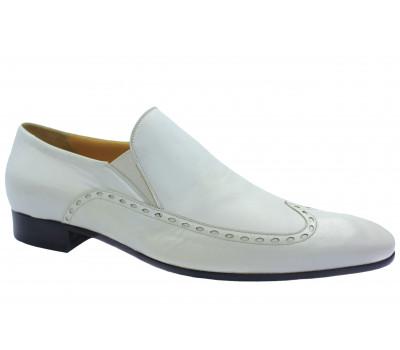 Туфли ROMIT кожаные белые 9403