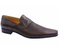 Летние туфли ALBA кожаные коричневые