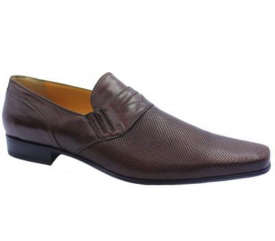 Летние туфли ALBA кожаные коричневые 8791