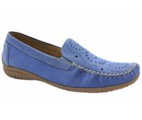 Мокасины Gabor голубые из нубука