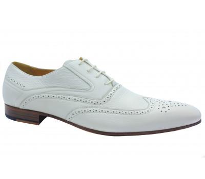 Туфли ROMIT кожаные белые 9960