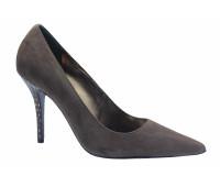 Модельные туфли Hogl замшевые темно-серые