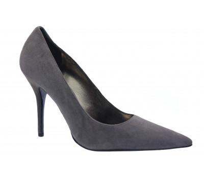 Модельные туфли Hogl замшевые серые  6-108492