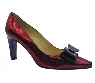 Модельные туфли Peter Kaiser из крека бордовые 74825-824