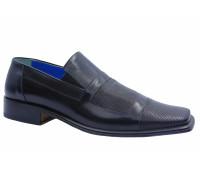 Летние туфли ALBA кожаные черные