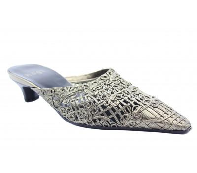 Сабо Hogl  серебряные кожаные 3-103190