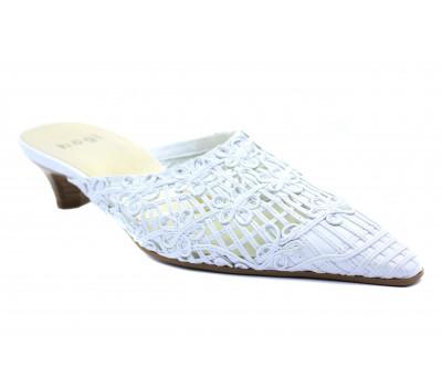 Сабо Hogl  белые кожаные 3-103190