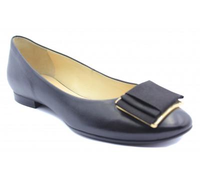 Балетки Hogl кожаные черные 5-101010