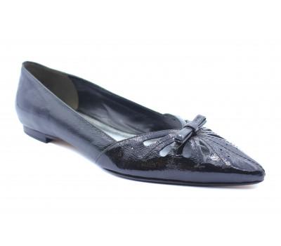 Балетки K&S черные из лакированной кожи 17360-100