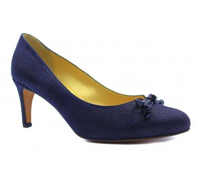 Модельные туфли Peter Kaiser из крека темно-синие 72175-884