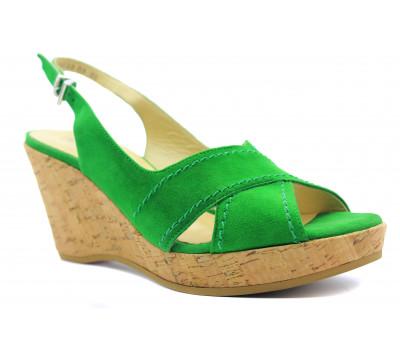Босоножки Peter Kaiser замшевые  зеленые 11107-504